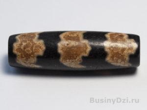 Бусина Дзи 5 летучих мышей